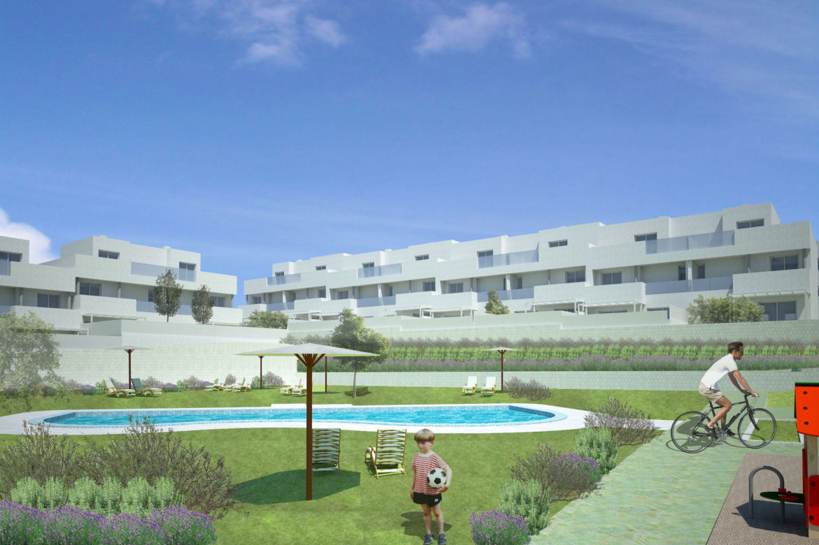 Forty houses in Sector AR Nuevo Tres Cantos. Plot RU-4